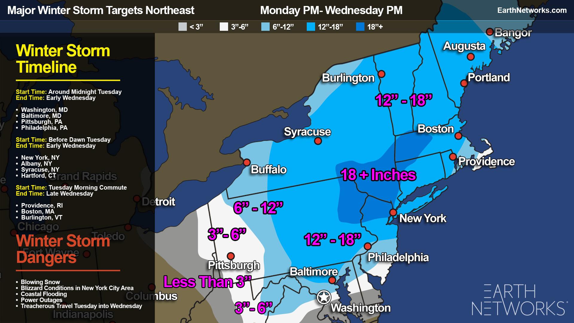 Update: Winter Storm Stella Making a Mess