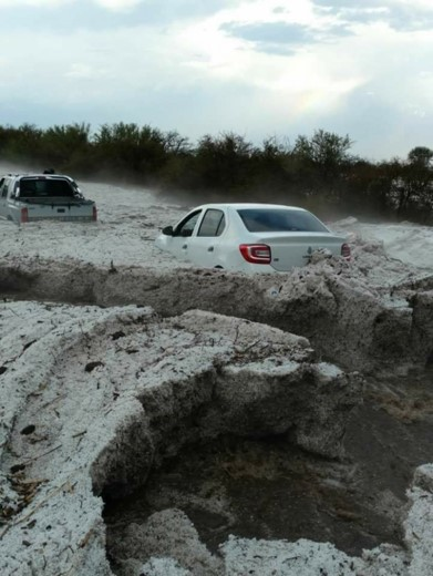 Stormy Argentina Weather Brings Hail In October