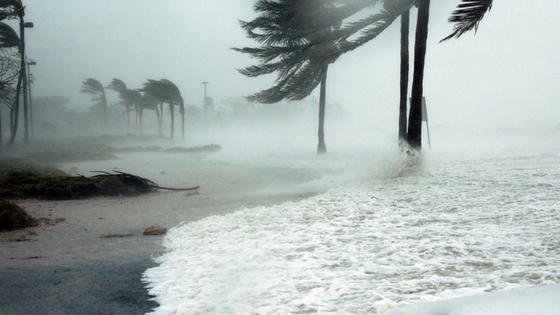 Category 5 Irma Passing Over Leeward Islands - Wednesday