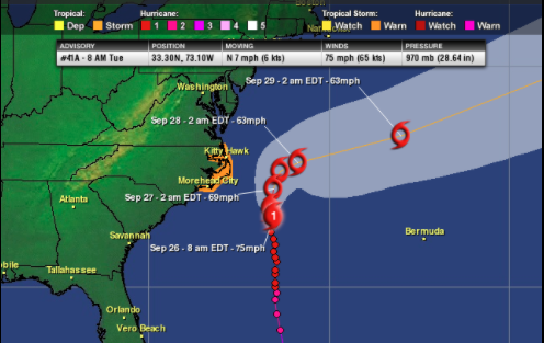 Maria Still Churning off the Southeast Coast; Lee No Threat to Land